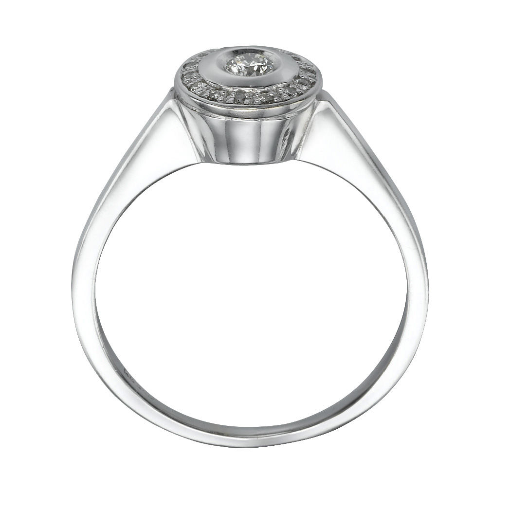 astley ring full carat muse eternity halo in clarke gold solid uk diamond white