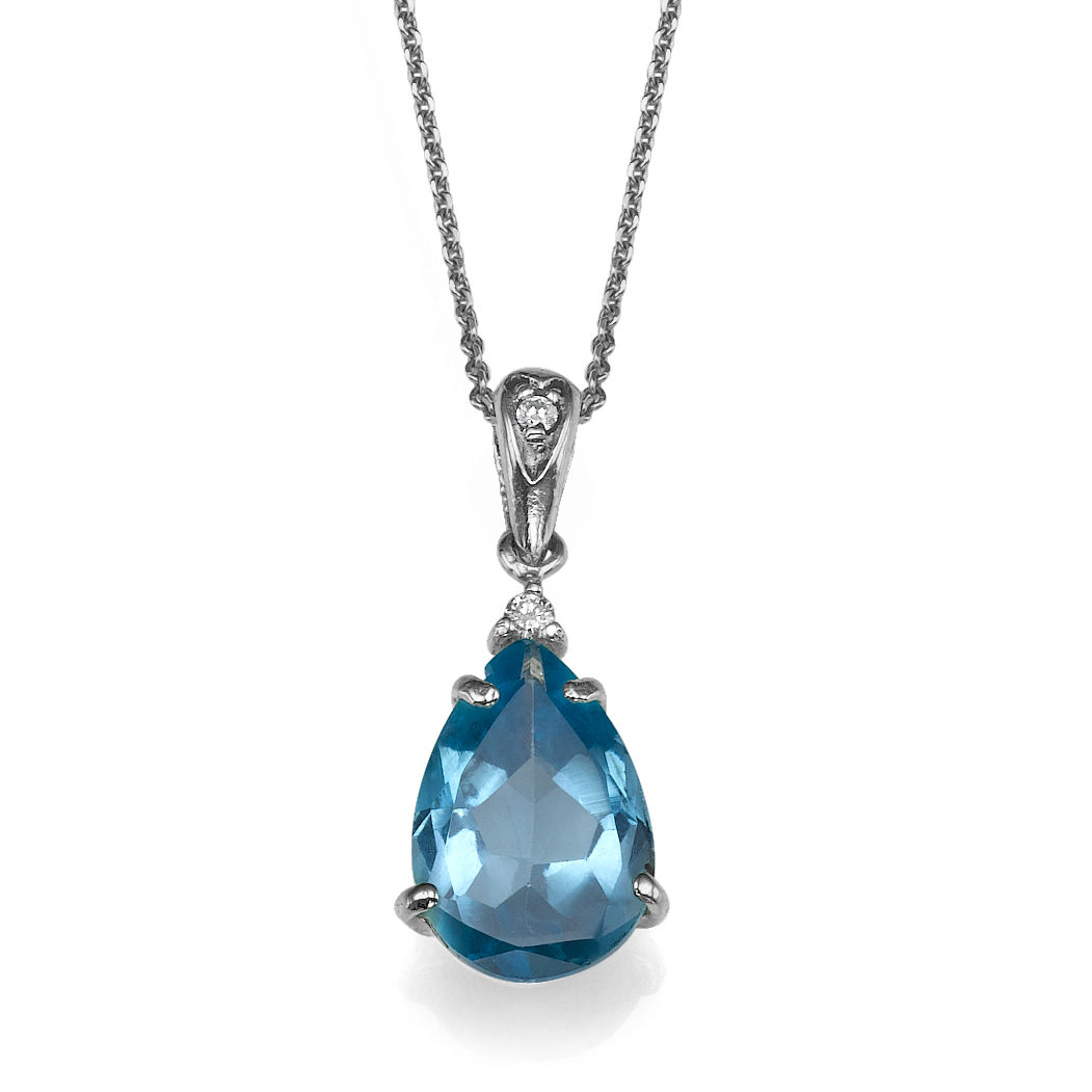 14k white gold pendant with blue topaz 3 pear blue and diamond 002 14k white gold pendant with blue topaz 3 pear blue and diamond 002 round vs mozeypictures