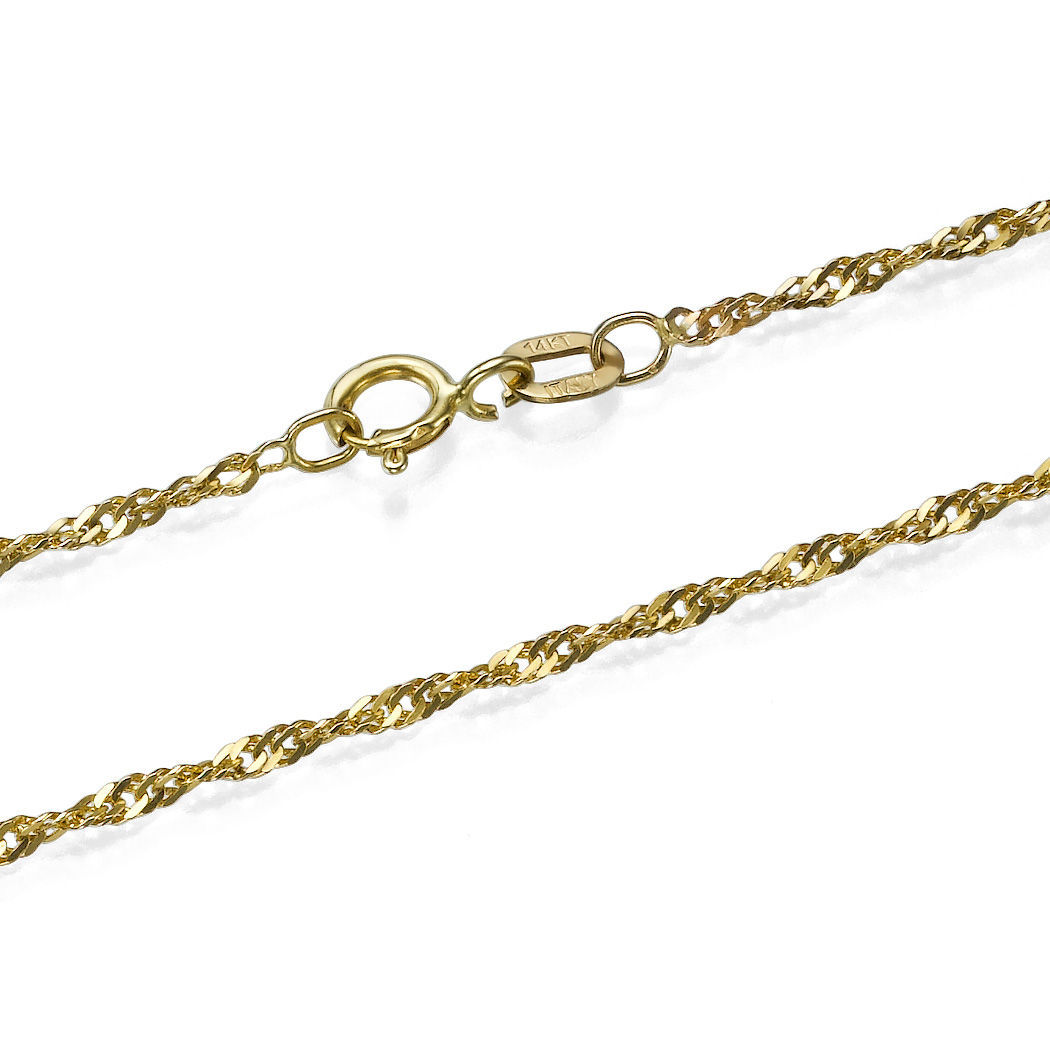 link gold chains miami solid cuban chain mm inches yellow