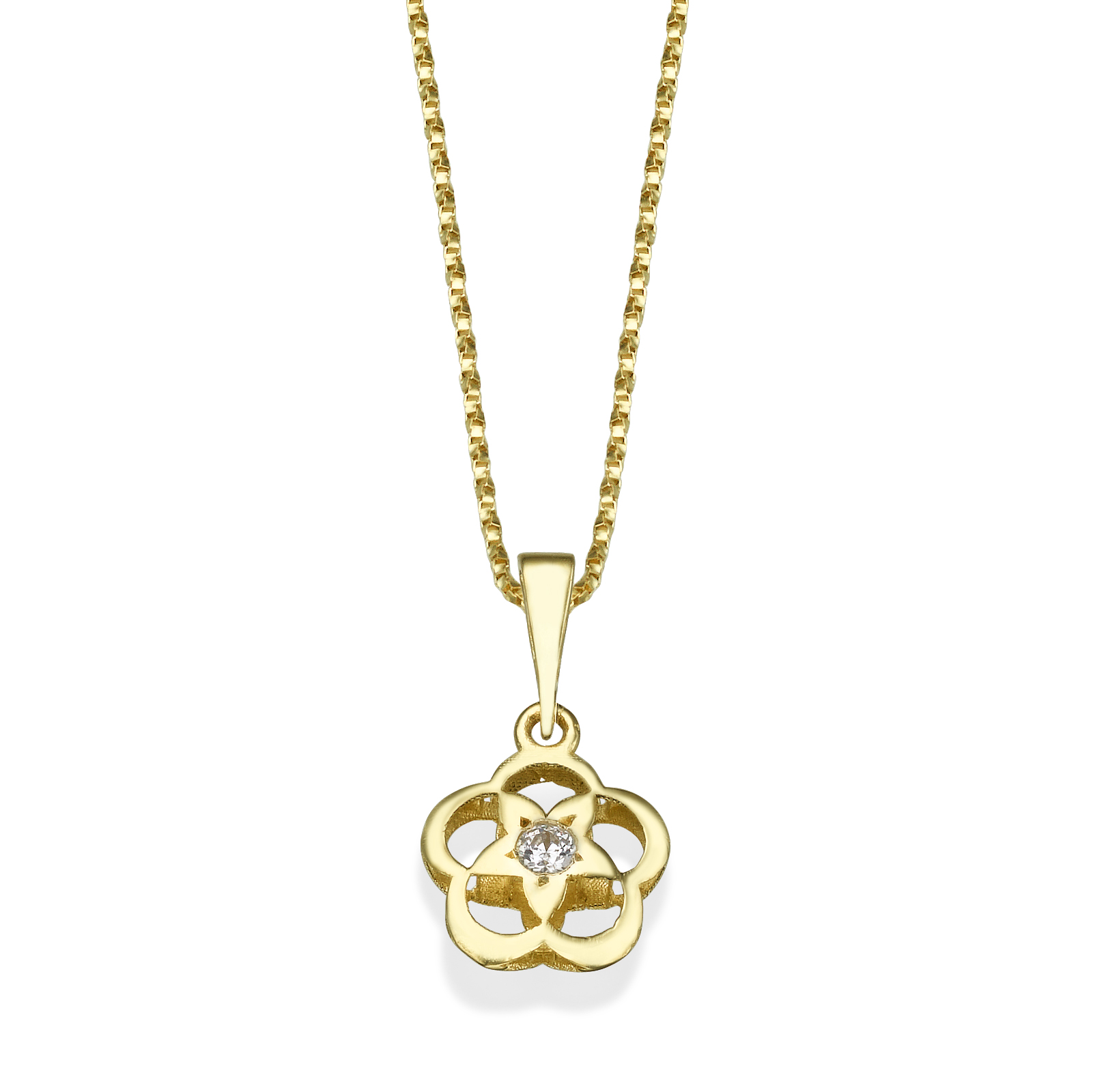 Gold Pendant - flower