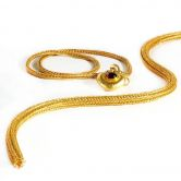 Hand - Knitted Gold Chain
