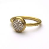 Pave Dome Diamonds Ring