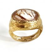 Rough Pebble Routile Ring
