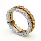 White Gold Crown Eternity Ring