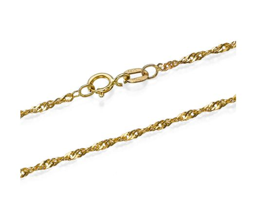 14K Yellow Gold Chain for Pendant Necklace 15.5 / 17.5 / 19.5 / 23.5 Inch Delicate Women Jewelry