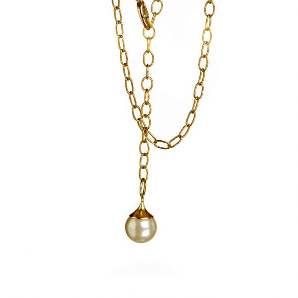 22K Gold chain with Pearl