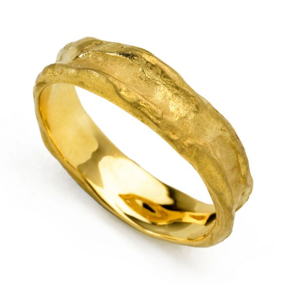 Rough Gold Band