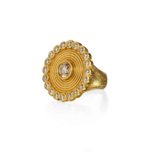 African Coiled Cocktail Ring