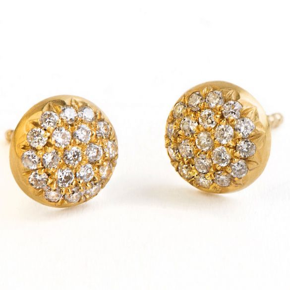 BALLS STUDS WHITE DIAMONDS