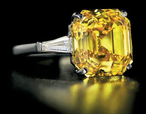10 Ct Yellow Diamond Auction