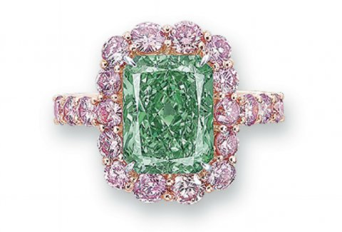 Aurora Green diamond