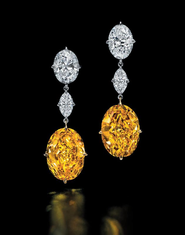 Zimmi yellow diamond pair