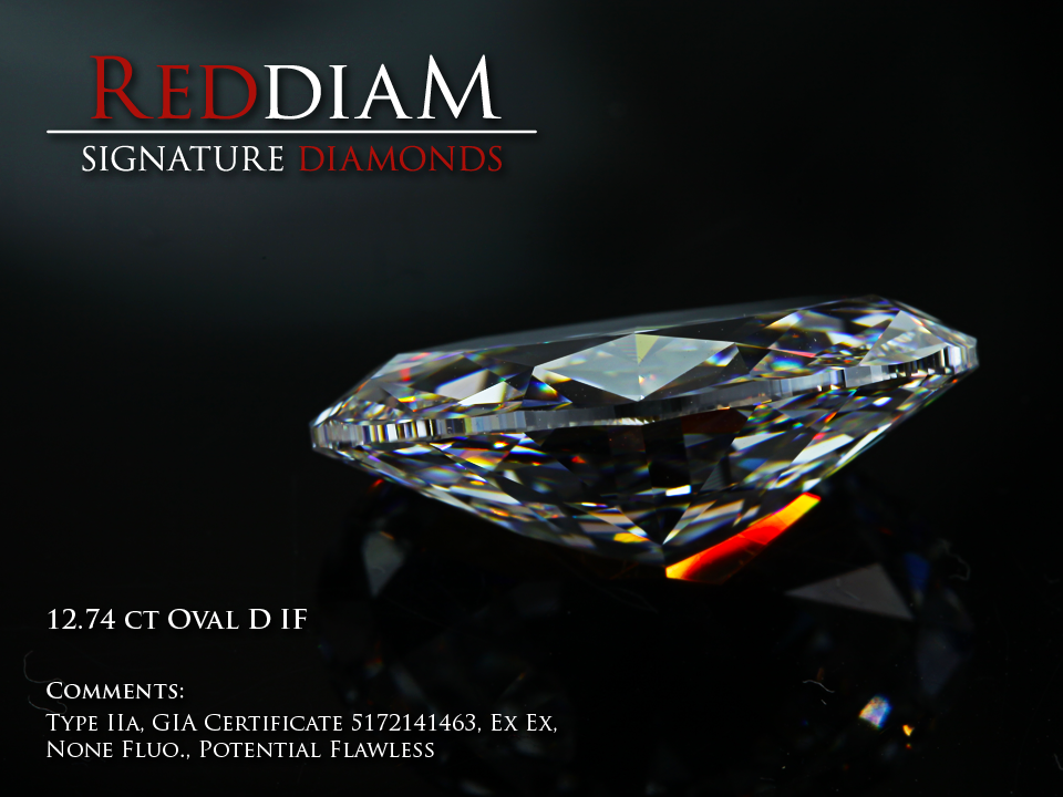 12 carat D flawless diamond