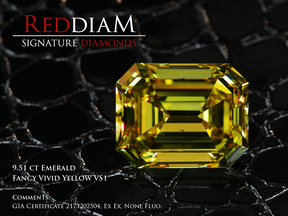 9 Carat vivid yellow diamond