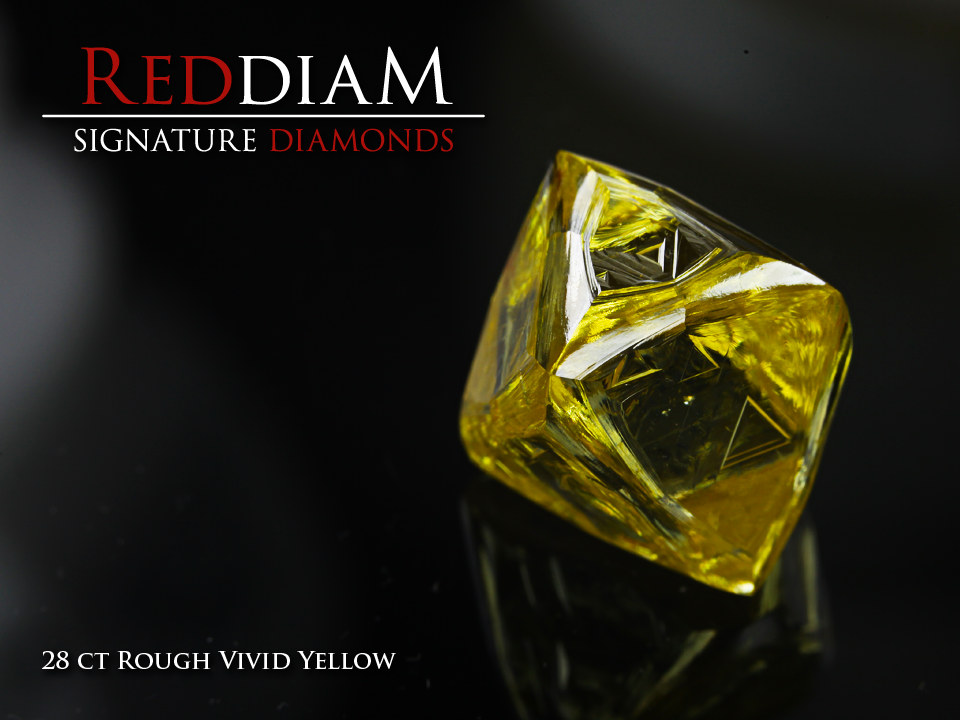 Zimmi rough yellow diamond