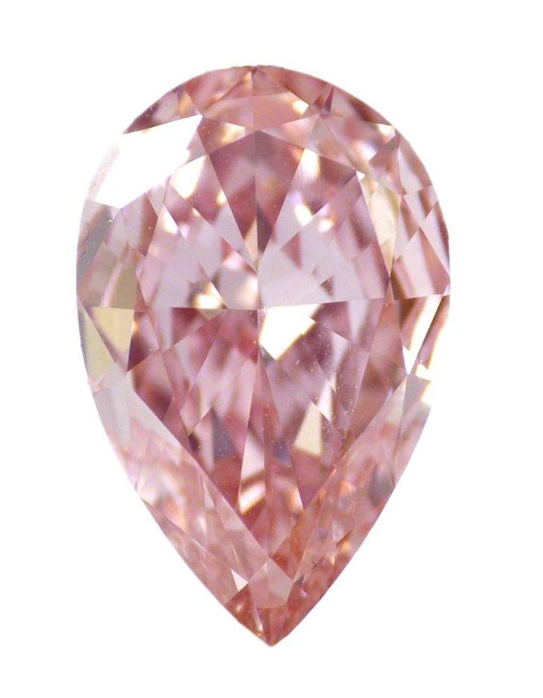 2 04 Ct Loose Natural Diamond Fancy Intense Pink Vvs2 Pear
