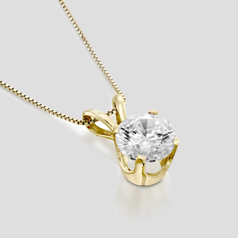 94fd9c1e3 Details about New Enhanced Diamond Pendant 0.40 CT Round F/VS2 14K Yellow  Gold Black Friday