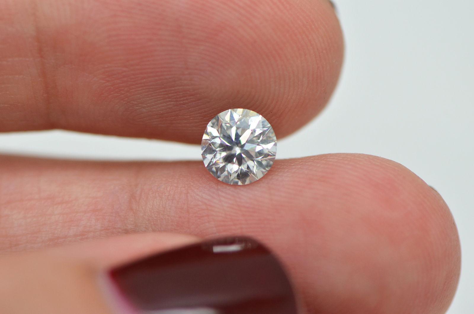 1 Carat Round Shape Real Diamond Eye Clean E/SI1 Loose Enhanced For ...