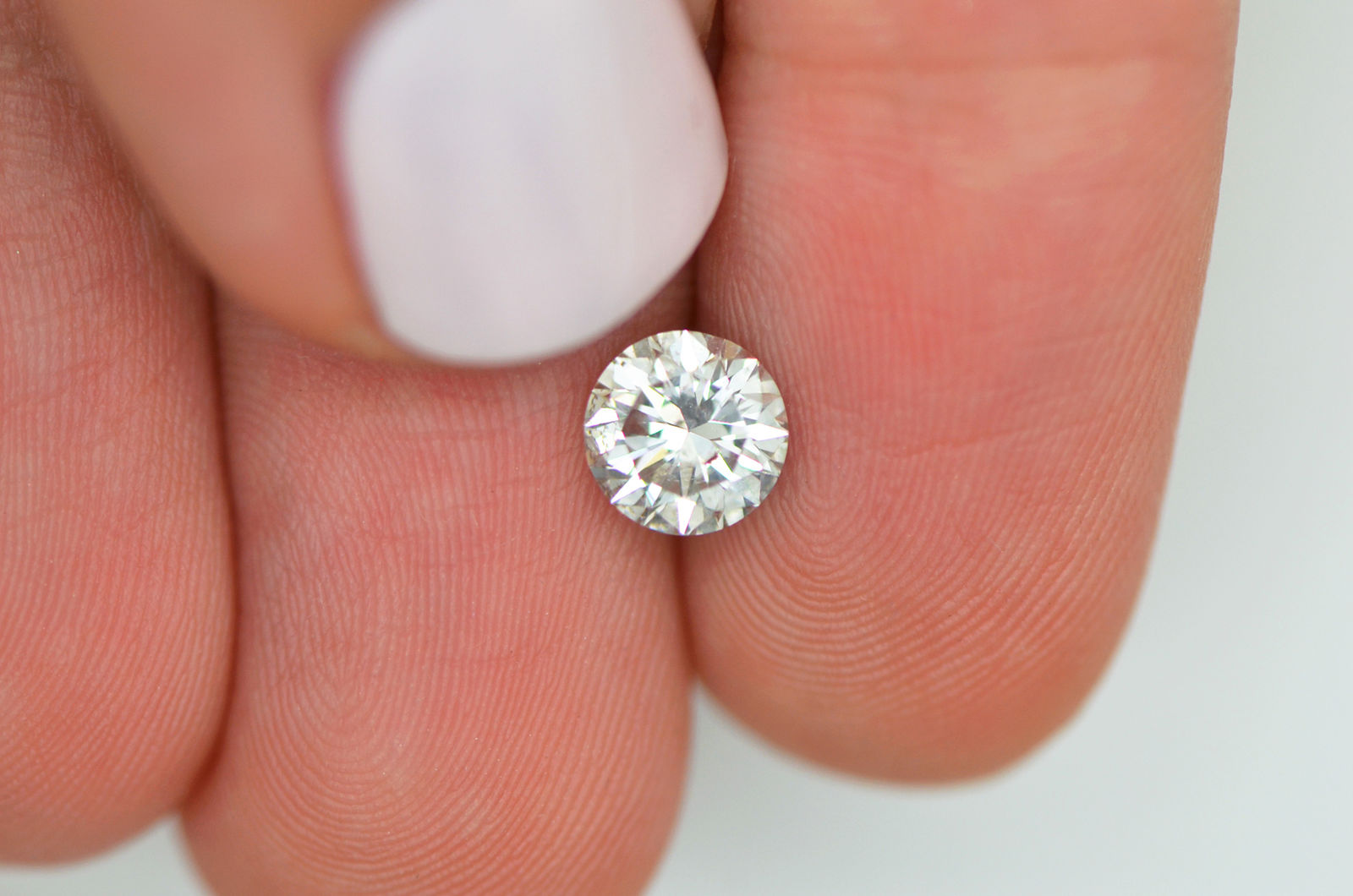 Round Cut Diamond Deal D SI1 White Color 0.95 Natural Enhanced For ...