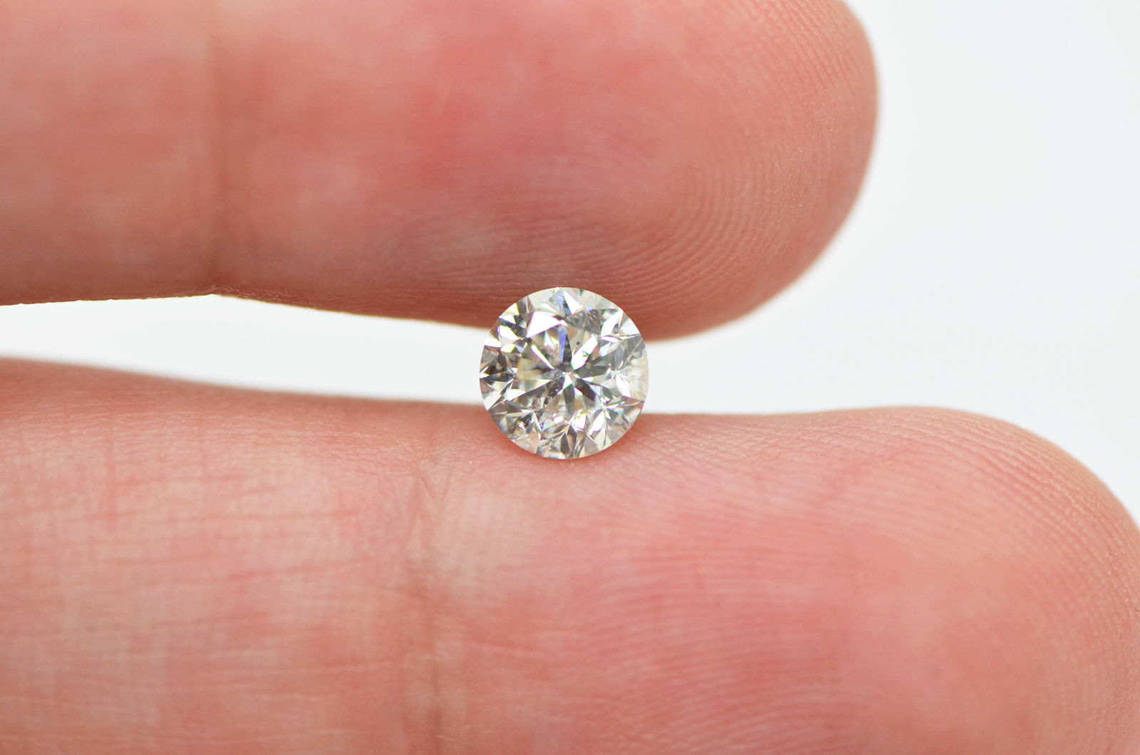 0.95 Carat H/SI2 Round Cut Natural Loose Enhanced Real Diamond For ...