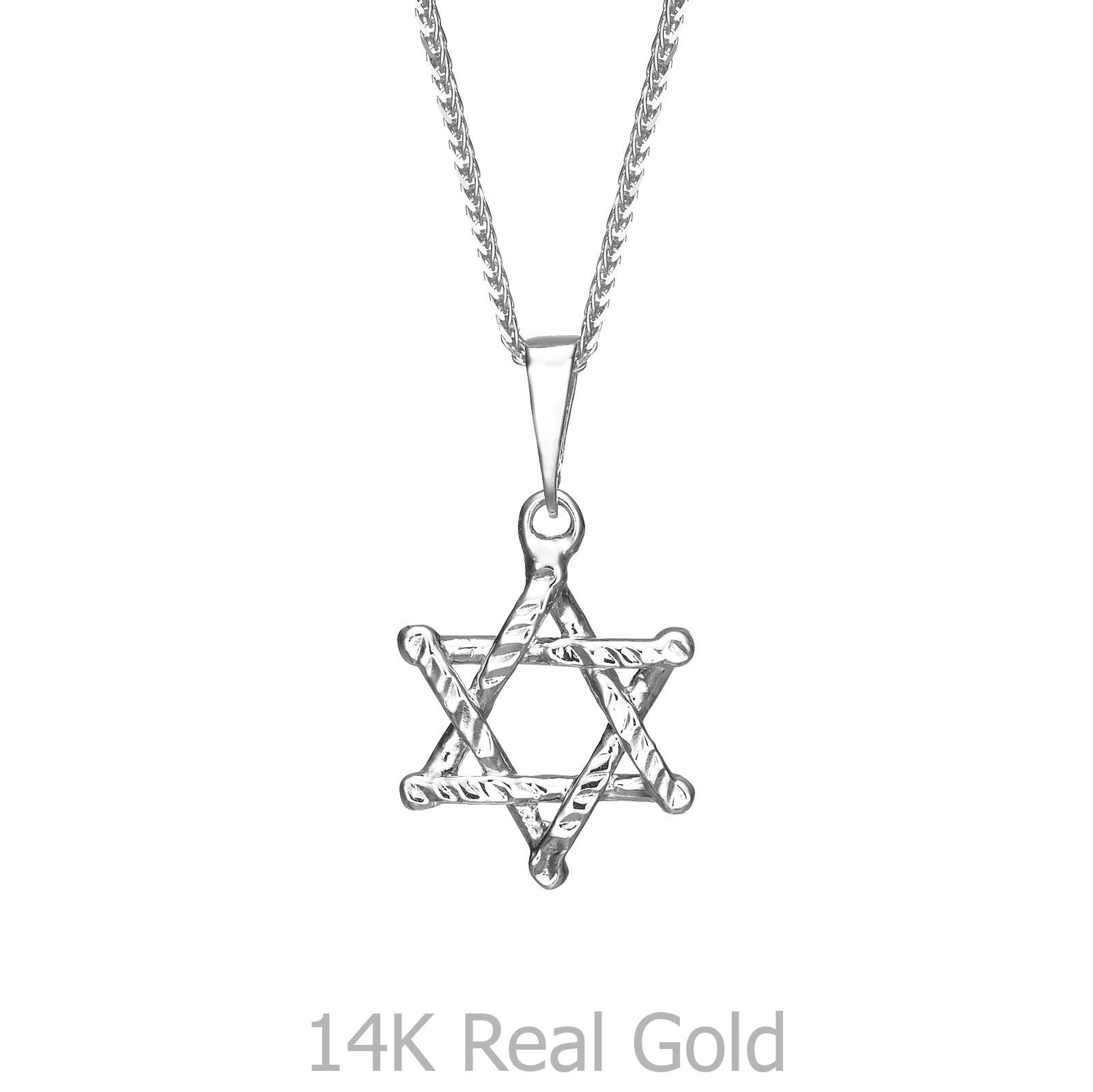 Lex /& Lu 14k Yellow Gold Childrens CZ Star of David Pendant