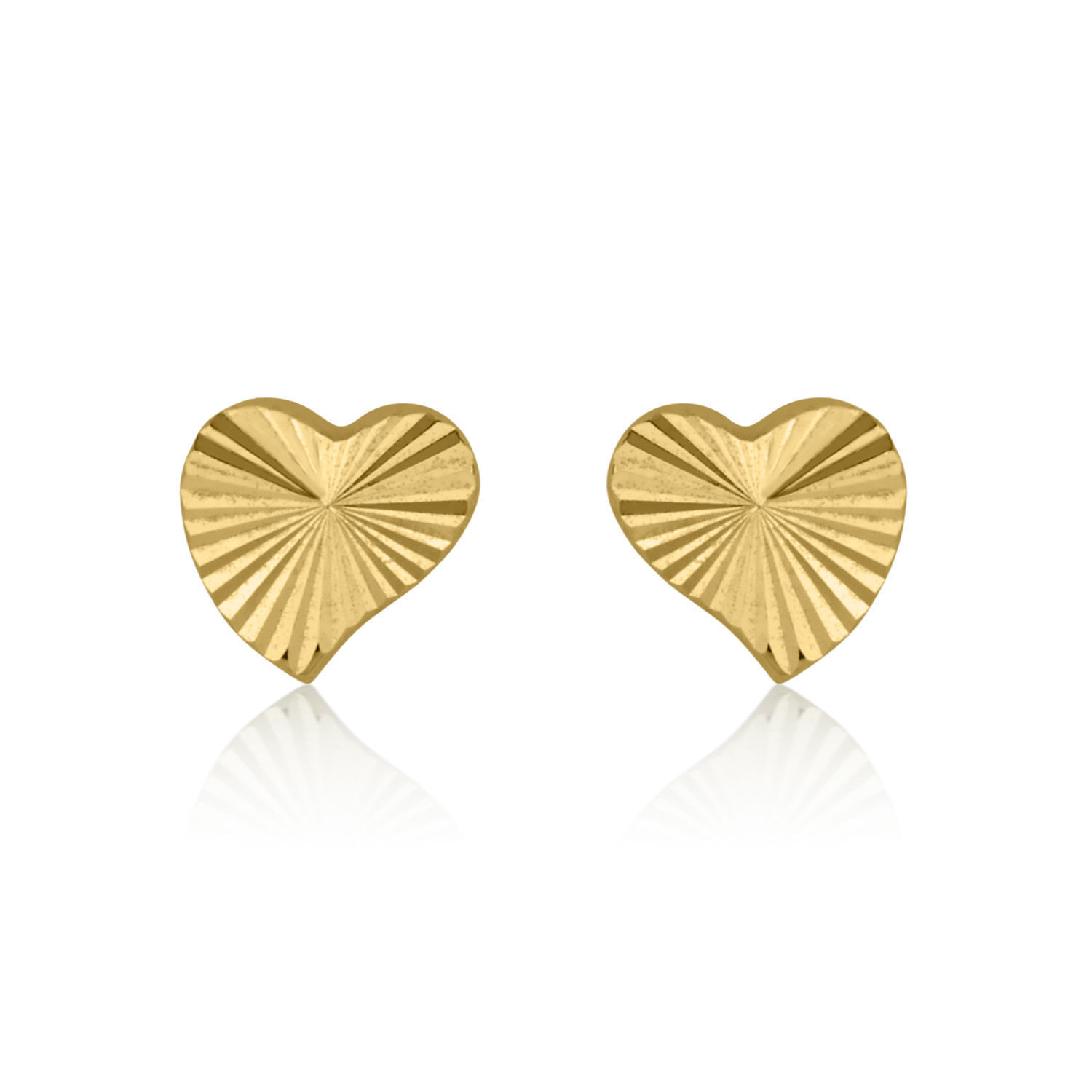 fe9e156f0 Details about Small Baby Earrings Heart 14K Solid Gold Children Studs  Natural Girls Kids Teen