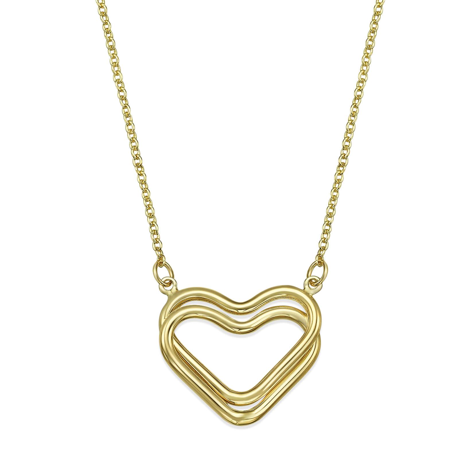 שרשרת זהב לבבות