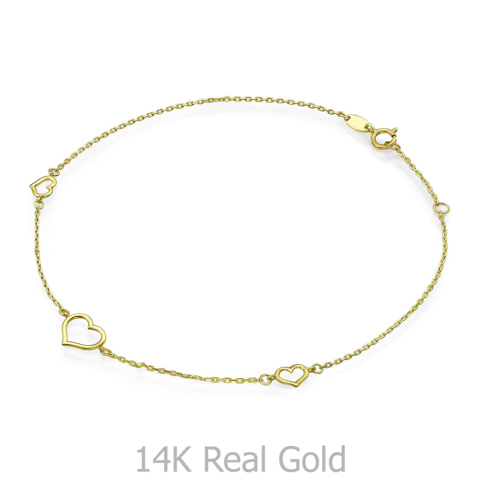 צמיד זהב לרגל