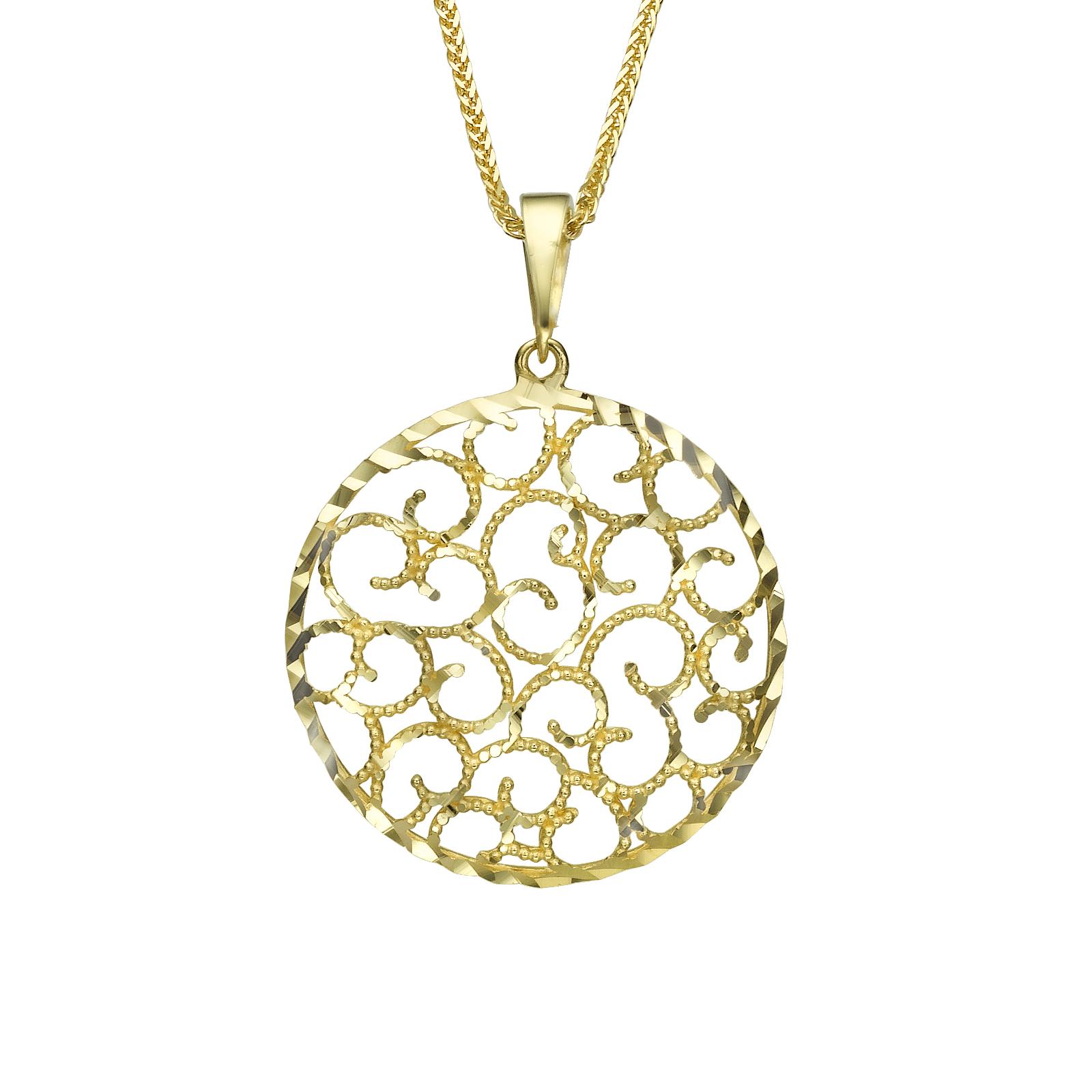 שרשרת זהב עגולה