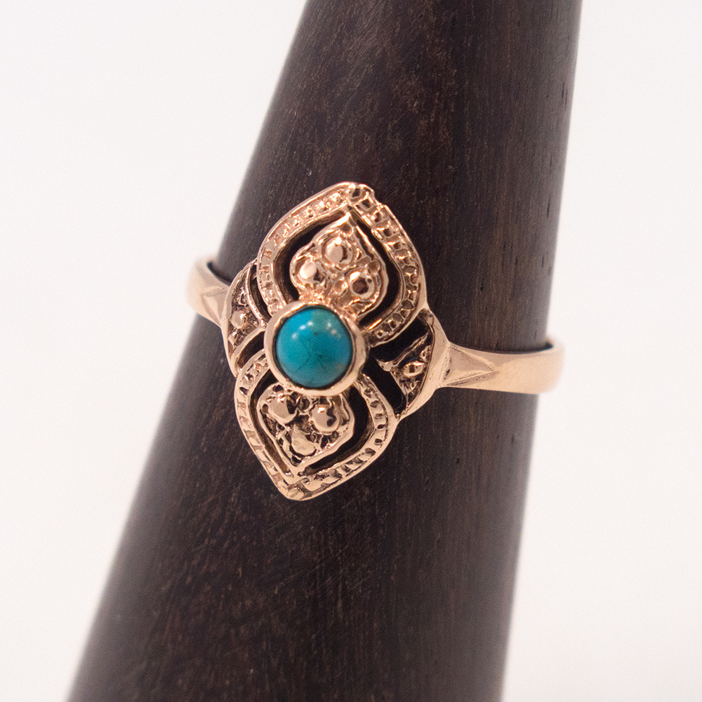 Turquoise December Birthstone Ring Sz 7.75 Solid Sterling Silver Jewellery Gift Gemstone
