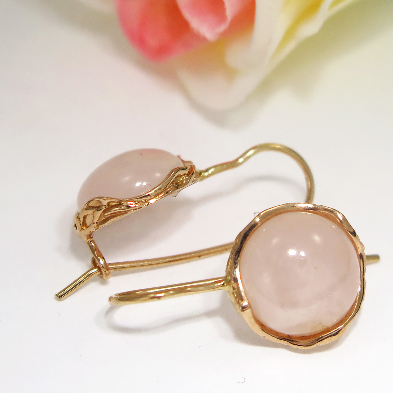 gold gemstone blanche rings ring cocktail luminous quartz rose lily