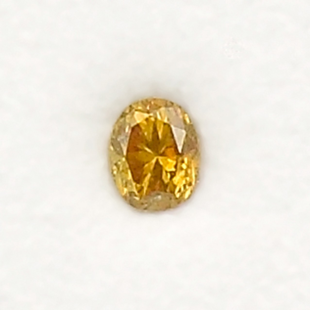 5f7a3d006b 0.09 Carat Fancy Brownish Orange Loose Diamond Natural Color Oval Shape